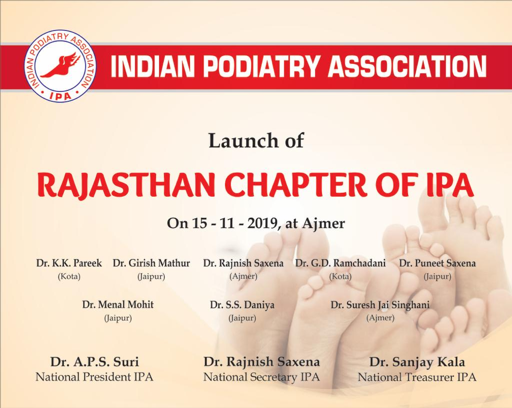 15th November 2019 Launch of Rajasthan Chapter of IPA