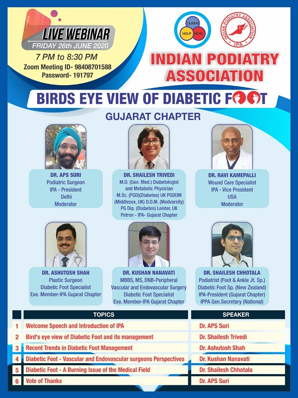 26th june 2020 Live webinar Of Bird Eye View Of Diabetic Foot