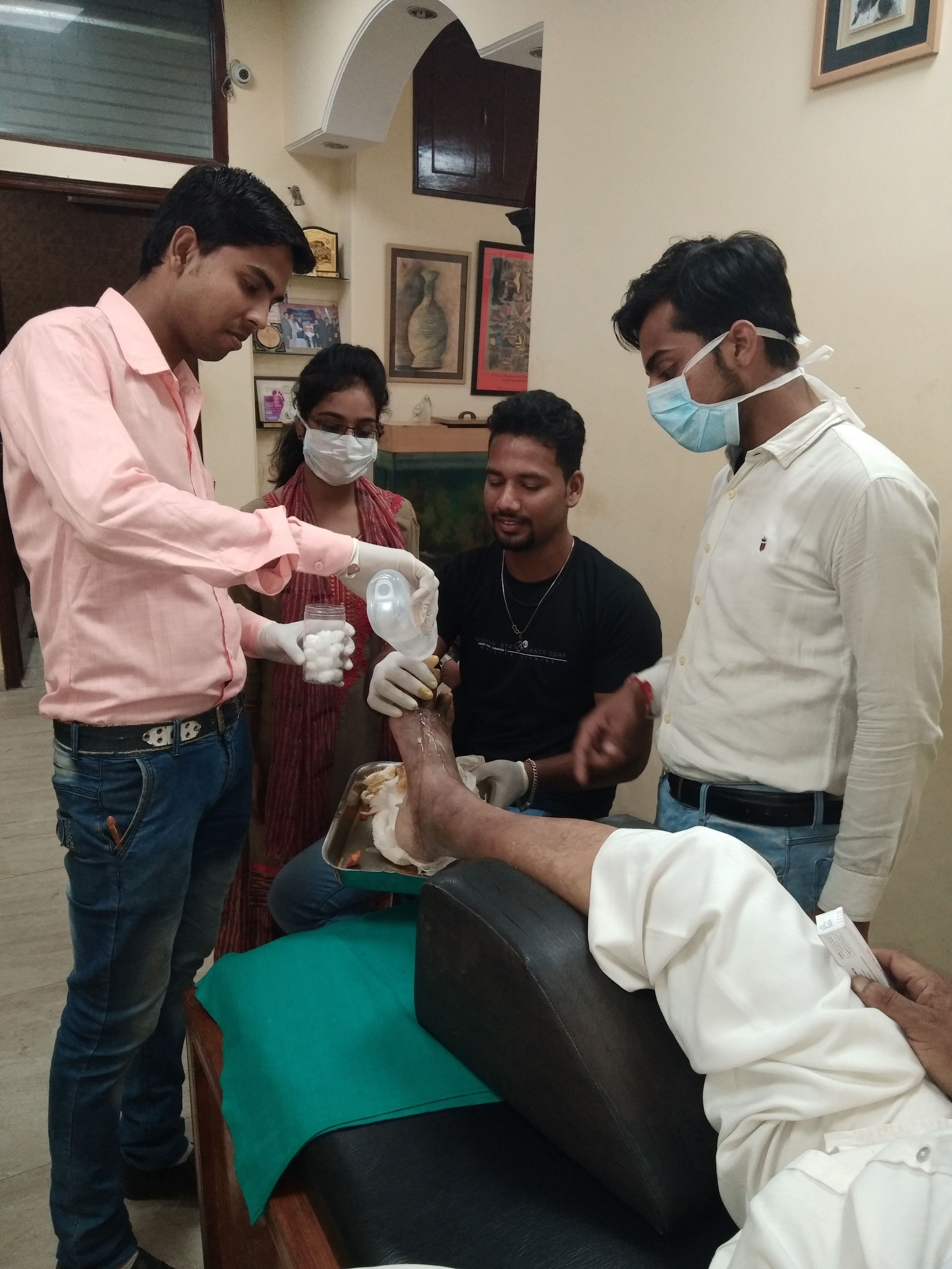Diabetes Educators Training in Podiatry at Diabetic Foot Care Center  New Delhi  India 26th Sept to 3rd Oct 2018